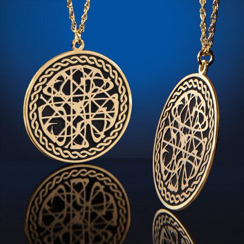 Raised Pendant in Gold