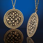 Recessed Pendant in Gold